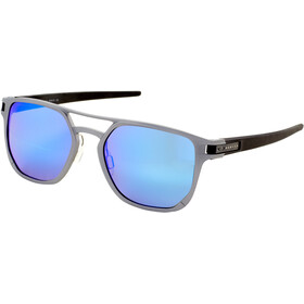 Oakley Latch Alpha Sunglasses Herre matte light/gunmetal prizm/sapphire polarized